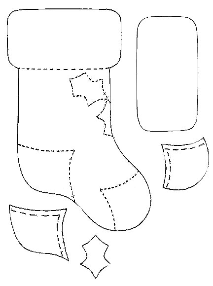 Christmas Decoration Stocking Pattern
